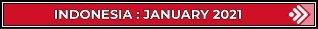 Indonesia: January 2021